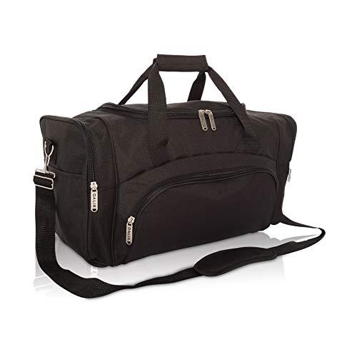 DALIX Signature Travel or Gym Duffle Bag, Black