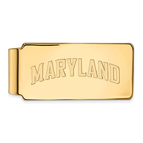 Plated LogoArt Collegiate Sterling Official 14K Gold of Money Licensed w Clip UM Maryland University Silver Yellow 4wXxXaBY