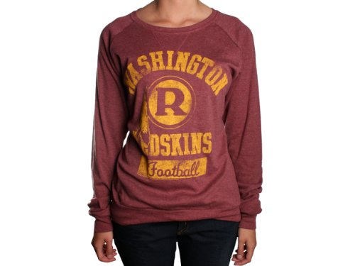 NFL Washington Redskins Women s True Vintage Distressed Triblend Crew Neck  Long Sleeve Pullover 5b65ae4d2
