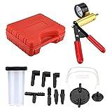 Aramox Auto Hand Held Vacuum Pump Pressure Tester Kit Brake Bleeder Test Tool Fluid Reservoir Test