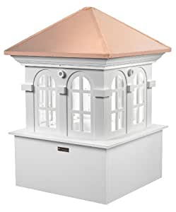 "Smithsonian Chesapeake Vinyl Cupola with Copper Roof 26"" x 36"" by Good Directions"