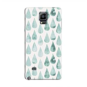Cover It Up - White Cyan Drops Galaxy Note 4 Hard case