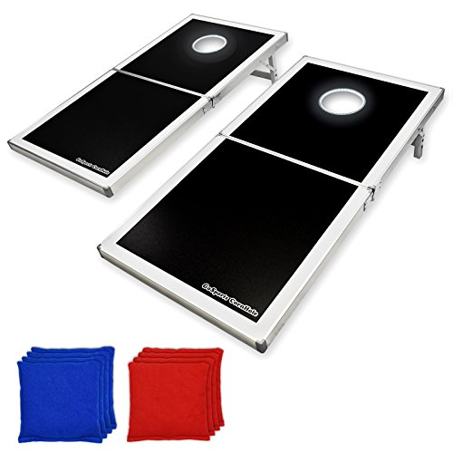 GoSports LED Light Up Cornhole Set, Regulation Size (3 Way Rule)