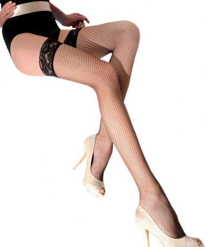 Cabarets de medias de RED blancas Gabriella Calze 151 Bianco