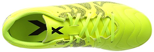 adidas X 15.3 IN Leather - Botas para hombre Lima / Negro