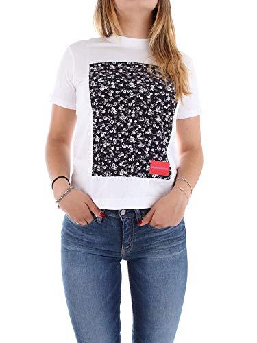 Klein Calvin J20j208611 T shirt Blanc Femme TqqHdw