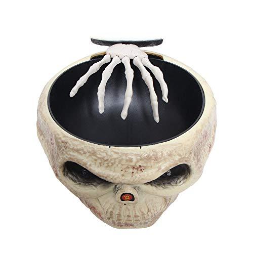 Transer Fruit Bowl, Halloween Decorations Nut Bowls Dish Basket with Jumping Skull Hand Halloween Decor Supplie (Beige) by Transer- (Image #2)