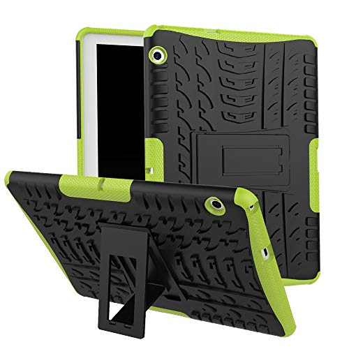 - Sodoop Case for Huawei Mediapad T3 10 9.6 inch, Hybrid Rugged Hard Rubber PC Stand Case Cover with Auto Sleep/Wake