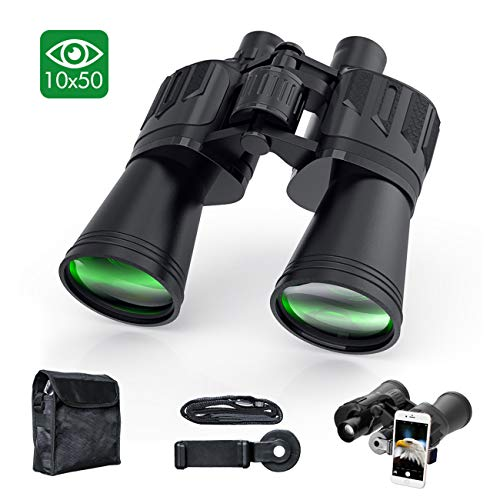 Binoculars for Adults, Sinohrd 10×50 Compact Powerful HD Binoculars for Bird Watching,Traveling,Hunting,Concerts…