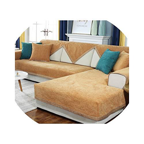 entertainment-moment Solid Color Sofa Towel Sofa Cushion Cover Universal Fabric Sofa Covers for Living Room Modern Minimalist Sofa Towel,Coffee,70X90Cm