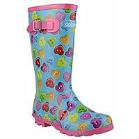 Cotswold Childrens Button Heart Wellies/Big Girls Boots