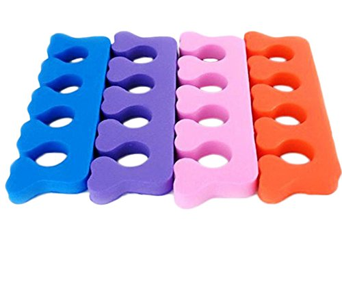 Hosaire 4 Pair Toe Separators, Soft Foam Finger Toe Spacers, Great Toe Cushions, Apply Nail Polish During Pedicure Manicure