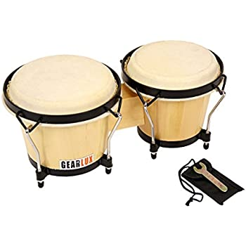 Gearlux Tunable Bongos - Natural