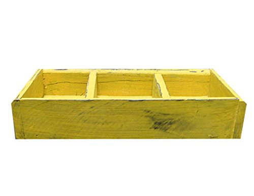 3 Compartment Divided Wood Display Tray / Caddy - 14
