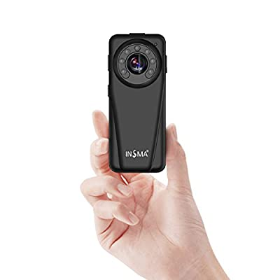Spy Camera Mini Camera Hidden Camera 1080P HD Video Recorder Secret Camera Security Camera Car DVR, Night Vision Motion Detection Loop Record, for Security of House Store Car Office Factory, by INSMA