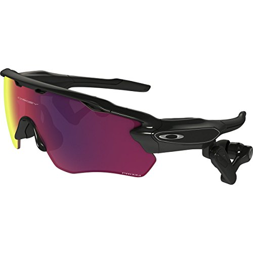 Oakley Radar Pace — Prizm Road Smart Sunglasses — Collect & Analyze Performance Data — Custom Training Program — In-Ear Coaching — Durable Plastic Frame — 100% UV Protection - Sunglasses Bluetooth Oakley