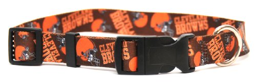 Yellow Dog Design Cleveland Browns Licensed NFL Dog Collar, Small, 10-Inch by 14-Inch, My Pet Supplies
