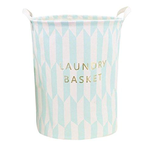 YJYDADA Waterproof Canvas Laundry Clothes Basket Storage Basket Folding Storage Box (E) by YJYDADA