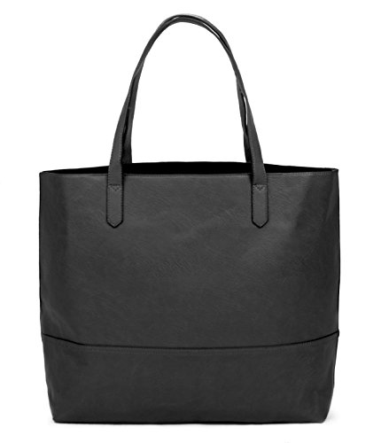 - Overbrooke Large Vegan Leather Tote Bag - Womens Slouchy Shoulder Bag with Open Top