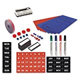 Magnetic Board Accessory Kit, Blue/Red, Sold as 1 Each