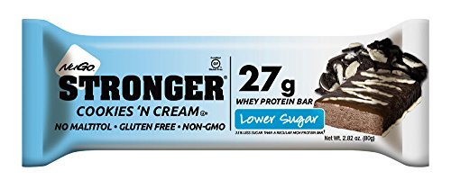 NuGo Stronger Cookies 'n Cream, 2.82 Ounce (pack Of 12) (Diaper Cookie)