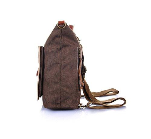 Sucastle Retro Tasche lässig Tasche Schultertasche Tragetasche Sucastle Farbe: Braun Größe: 36x33x16cm
