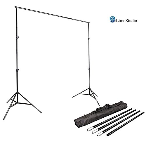 Professional Video Production Equipment - LimoStudio Photo Video Studio 10Ft Adjustable Muslin Background Backdrop Support System Stand, AGG1112