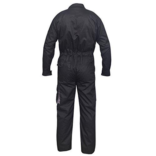 Black Work Wear Men's Overalls Boiler Suit Coveralls Mechanics Boilersuit Protective (2XL) by Norman (Image #1)