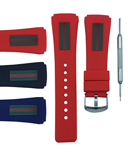 8456cc9c0b4 22x26mm Diver Watch Band Strap - Free Spring Bar Tool (Red)