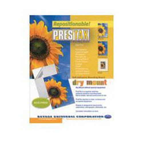 Savage Prestax, Medium Weight Pressure Sensitive Mount Board, 8x10''-200 Sheets. by Savage