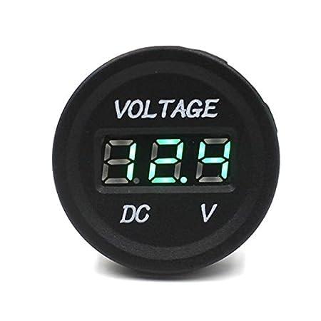 SODIAL Voltmetre LED Numerique Impermeable a L'eau de 12V-24V DC de Voiture Moto (Bleu) 067370A2