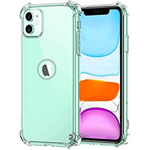 Apple iPhone 11 Soft Silicone Shockproof Bumper Case Back Cover in Transparent[Air Cushion Technology]