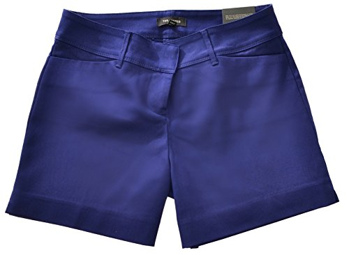The Limited Ladies Tailored Short Flat Front Shorts, Navy (4) ()