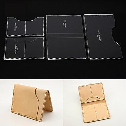 NW Card Holder Acrylic Template Bag Leather Pattern Acrylic Leather Pattern Leather Templates for Card Bag