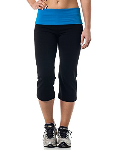 Alki'i Yoga Capri with Foldover waistband