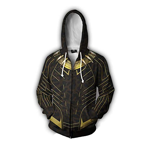 Rulercosplay Fashion Hoodie Avenger Hoodie Tony Sport Jacket Cosplay Costume (Panther, M)]()