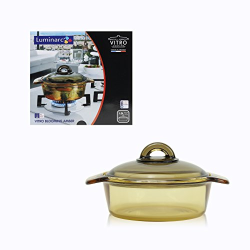 Luminarc France Amberline Blooming Heat-resistant Glass Casserole Cooking Pot (1L) (Glasses Cooking Pot compare prices)