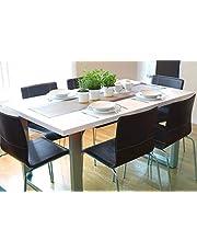 Inspirer Studio Roman Extendible Dining Table Pedestal Table MDF High-Gloss White