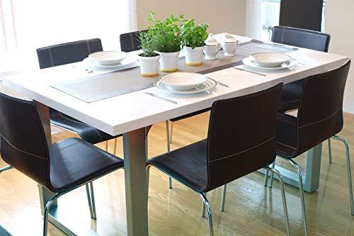 INSPIRER STUDIO Roman Extendible Dining Table Pedestal Table MDF High-Gloss White (Table ONLY)