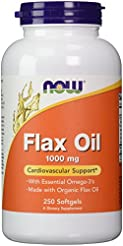 Now Supplements, Flax Oil 1000 mg Made w...