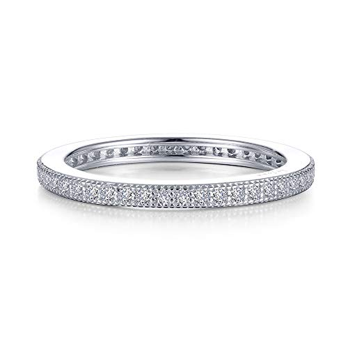 Lafonn Classic Sterling Silver Bonded with Platinum Simulated Diamond Stackable Ring (0.46 CTTW)