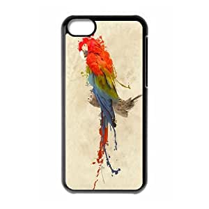 UNI-BEE PHONE CASE For Iphone 5c -Funny Parrot-CASE-STYLE 1
