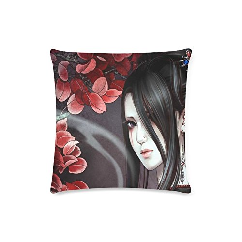 Japan Geisha Girl Rectangle Sofa Home Decorative Throw Pillow Case Cushion Cover Cotton Polyester Twin Side Printing 16