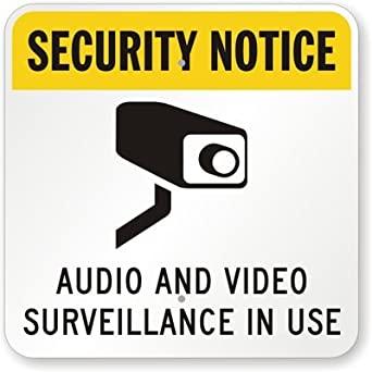 Amazon.com: Seguridad señal Aviso – Audio y vídeo en uso ...