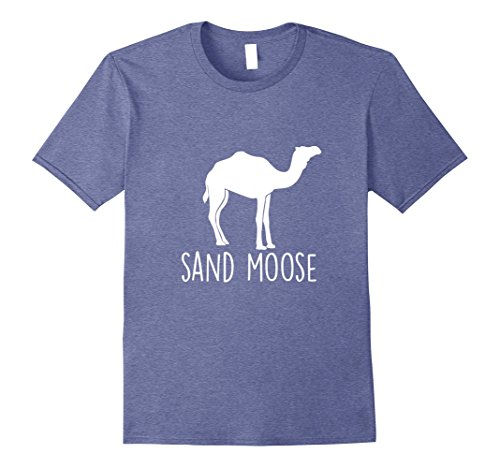 Mens Sand Moose Camo Camel Hump Funny Desert Animal T-Shirt Medium Heather Blue