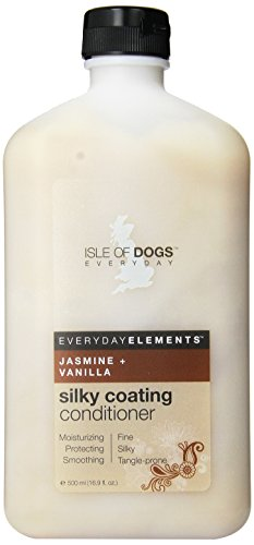 Everyday Isle of Dogs Silky Coating Dog Conditioner,Jasmine Vanilla for Fine, Silky and Tangle-Prone Hair, 16.9oz