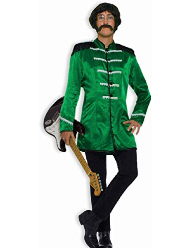 Mens Green 60s British Explosion Beatles SGT Peppers Band Jacket Costume 42