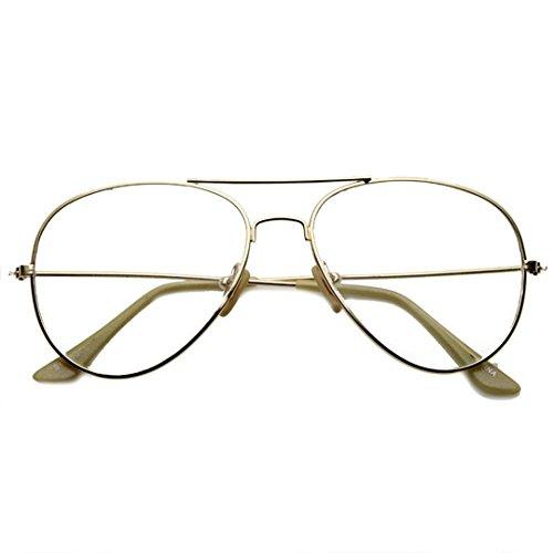 Red Label Eyewear - Classic Men's Or Women's Metal Frame Aviator - Red Sunglasses Label