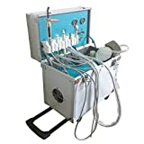 110V 4Hole Mobile Portable Rolling Case Delivery Unit/Three Way Syr/Suction System