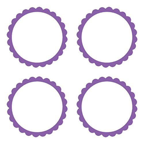 Amscan Lovely Scalloped Party Labels Decoration (5 Pack), New Purple, 2
